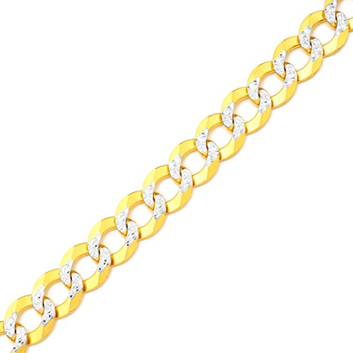 Yellow Gold 13mm Figaro Chain - Mr. Bling 10K Yellow Gold 13mm 20