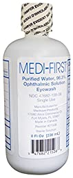 Medi-First MS55794 Eye Wash Solution, 32 ounce Bottle (4 Bottles)