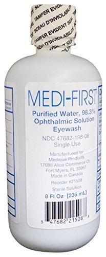Medique/Medi-First Buffered Eyewash Eye Care Body Wash 8 Oz Bottle - MS55780 (2 Bottles)