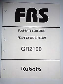 kubota gr2100 lawn and garden tractor flat rate schedule manual rh amazon com kubota gr2100 specs kubota gr2100 specs