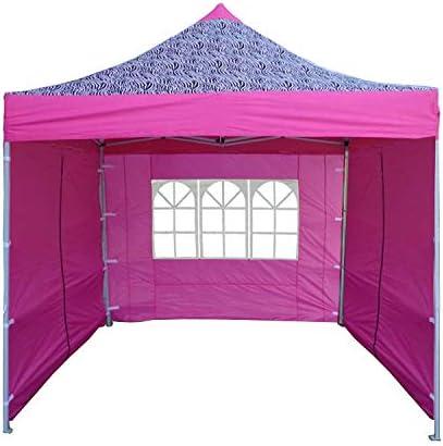 Delta 10'x10' Pop Up Canopy Party Tent Gazebo EZ Pink Zebra