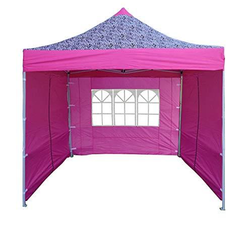 Delta 10'x10' Pop up 4 Wall Canopy Party Tent Gazebo Ez Pink Zebra - F Model Upgraded Frame Canopies