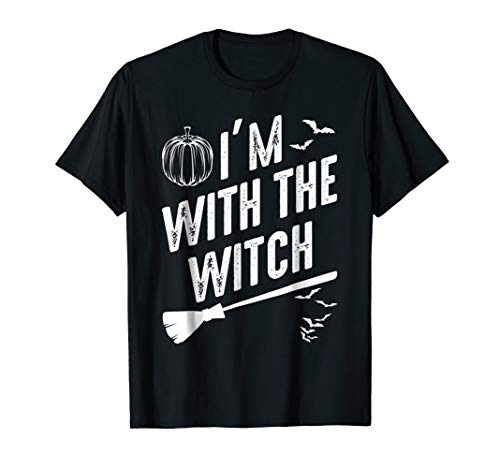 I'm With The Witch Easy Funny Scary Halloween T-shirt -