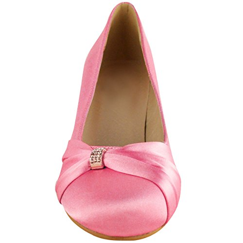 Prom Womens Baby Sandals Pink Low Fashion Evening Bridesmaid Heel Bridal Thirsty Shoes qtvzx5AS