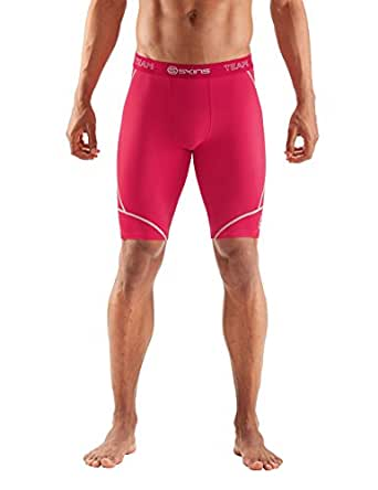 SKINS DNAmic Team Mens Half Tights - Red - X Small