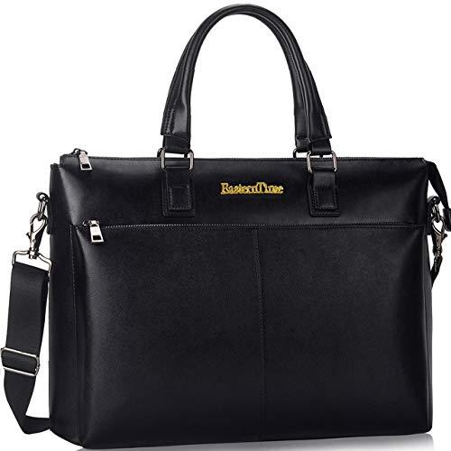 Laptop Bag,15.6 inch Briefcases for Men,Durable Business Travel Computer Bag with Detachable Adjustable Strap Shoulder Bag(Black)