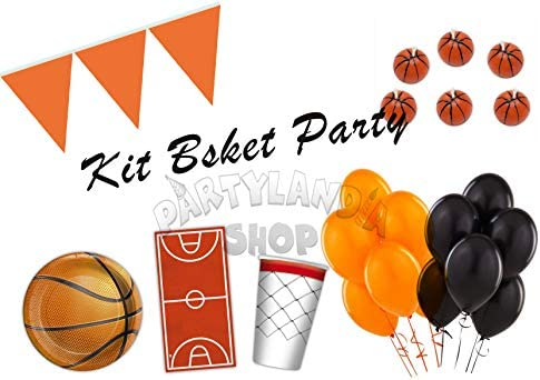 Partylandia Kit de Fiesta Tema Baloncesto para 12 Personas ...