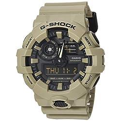 Casio Men's G SHOCK Quartz Watch with Resin Strap, Beige, 25.8 (Model: GA-700UC-5ACR)