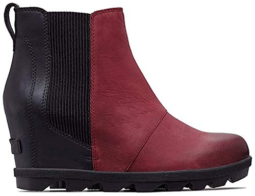 Sorel Womens Joan of Arctic Wedge II Chelsea Boot, Rich Wine