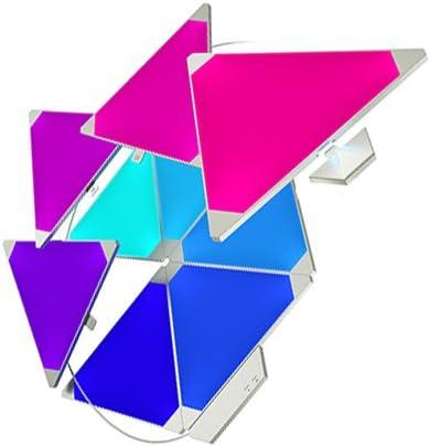 Nanoleaf paneles luminosos Rhythm Kit de inicio – 9 x luces LED modulares inteligentes, módulo de sonido, en plástico y carbón, 13.7 x 29.5 x 11.0 cm, 2watts