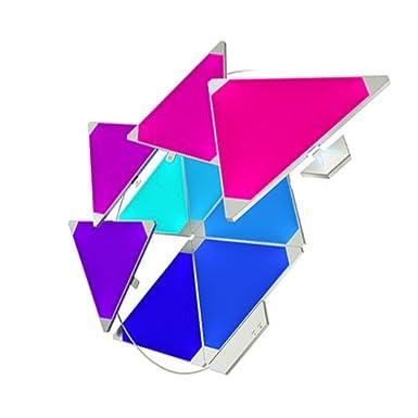 nanoleaf Light Panels Rhythm Starter Kit - 9x Modulare Smarte LED mit Sound Modul, App Steuerung [16 Millionen Farben, Alexa