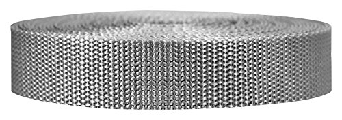 Strapworks Heavyweight Polypropylene Climbing Webbing, Silver Gray, 1