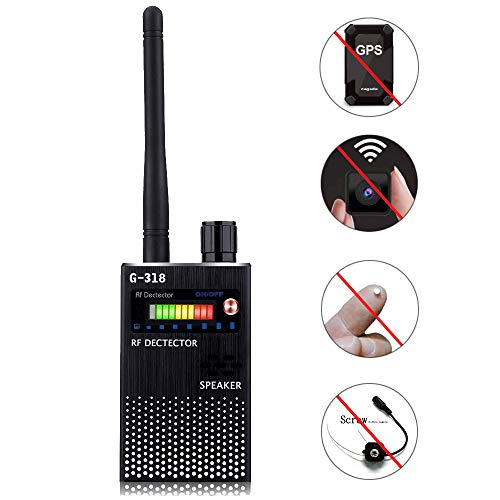 Wireless Signal Detector,Bug Camera RF GSM GPS Detection Finder Scanner Alarm Device for Car, Home, Hotel, Meeting, Protect Personal Privacy, Black ()