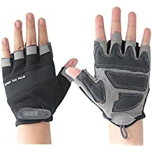 Top Black Gray Adults Youth Specialized Outdoor Adventure Cycling MMA Motorcycles Motorbike Motocross Dirtbike Street Bike Mtb BMX Mountain Bike Work Gym Workout Gloves Protective
