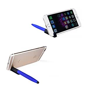 Pocket i-Phone 6-7-s-8-X iPad Video Stand, Stylus, Pen & Cleaner [Universal 2pk]-Watch movies,  recipes, cartoon in-flight restaurant kitchen College, FaceTime Facebook Live during Travel - Alfinio S4