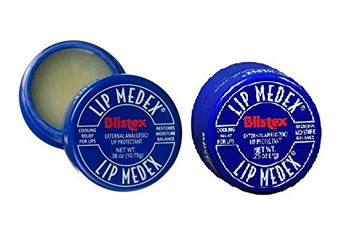 Blistex Medicated Lip Balm, Lip Medex - for Cold, Sores, Cracked & Dry Lips - 0.25 Oz x 2 Pack