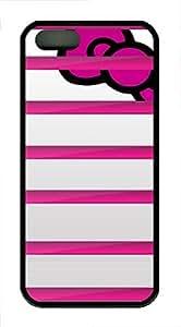 iPhone 5 5S Case Pink Bookshelf TPU Custom iPhone 5 5S Case Cover Black