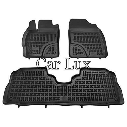 Alfombras Alfombrillas de goma a medida tipo cubeta 3D para Prius+ Car Lux AR04115