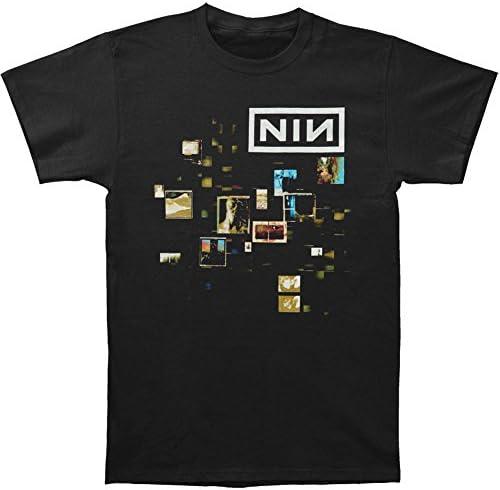 Nine Inch Nails Men's Cube 2013 Slim Fit T-Shirt Black