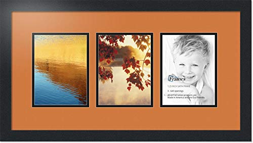 Art to Frames Double-Multimat-1407-767//89-FRBW26079 Collage Photo Frame Double Mat with 1-13.5x18.25 x and 3-4x5.75 Openings and Satin Black Frame