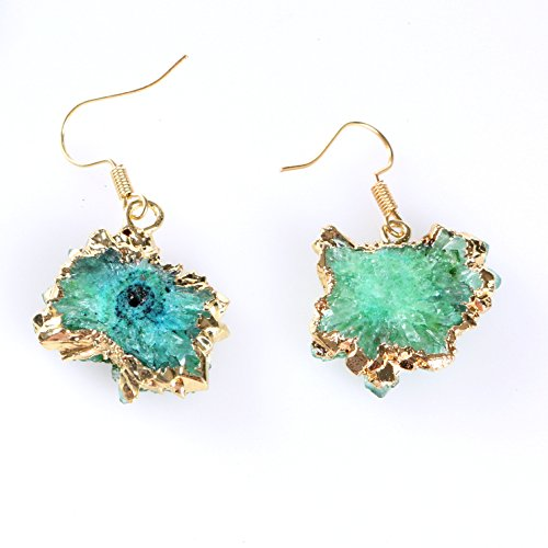 Gold Plated Natural Gemstone Jewelry (Green) ()
