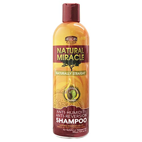 African Pride Natural Miracle Anti-reversion Shampoo, 12 Ounce