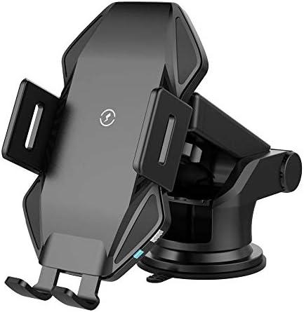 車のワイヤレス充電器ーマウントスマートクランプセンサー付き10W Qi高速自動車電話ホルダーに対応iPhone 11 Pro Xs Max XR 8 PlusSamsung S10 +S10 Note