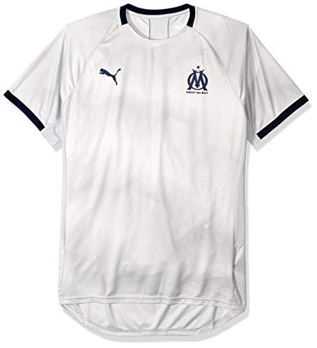 PUMA Men's Olympique de Marseille Graphic Jersey with Sponsor Logo, high RisePeacoat M