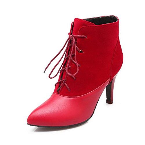 AdeeSu Womens Stiletto Color Matching Thick Bottom Heel R...