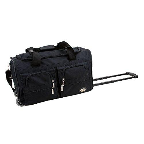 Rockland Luggage Rolling 22 Inch Duffle Bag, Black
