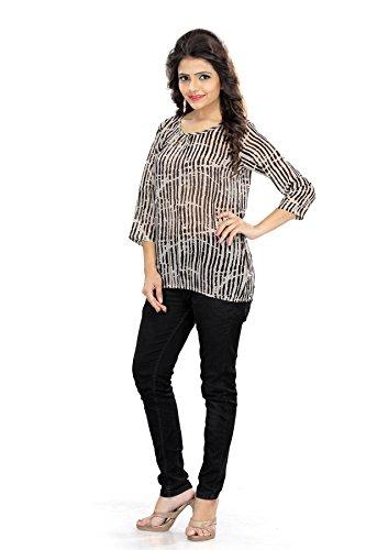 LIVA Womens Designer Henleys Top T-Shirts (Medium)