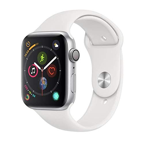 Apple Watch Series 4, 44 Mm, Aluminio Prata, Pulseira Esportiva Branca