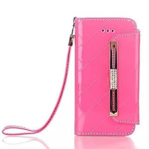 JAJAY ships in 48 hours Pearlite Layer Inlaid Diamonds Handbags PU and TPU Full Body Case with Card for iPhone 5/5S (Assorted Colors)