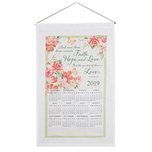 Faith, Hope, and Love Calendar Towel