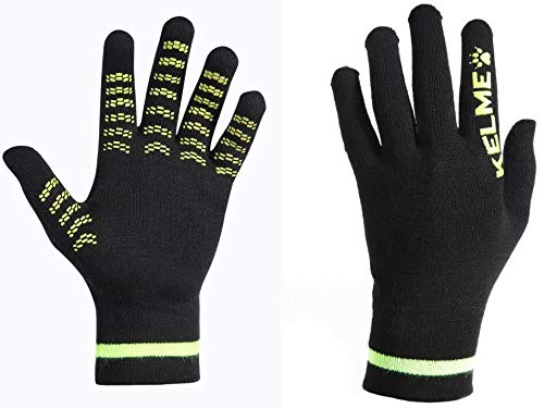 Warm Gloves for Men, Women and Kids. Warm Gloves in Cold Weather Perfect for Any Sport - Keep Warm awhile Playing Soccer, Running, Cycling or Climbing. (Black/Green, Large (Adult))