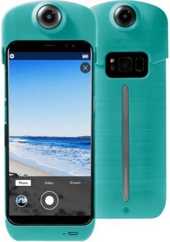 ION360 U - Funda de batería para Samsung 8 Teal 4K Ultra HD de 360 ...