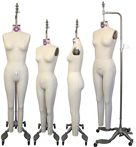 PGM Professional Full Body Dress Forms for Sewing and Display Size 8 with Collapsible Shoulders,Adjustable Height