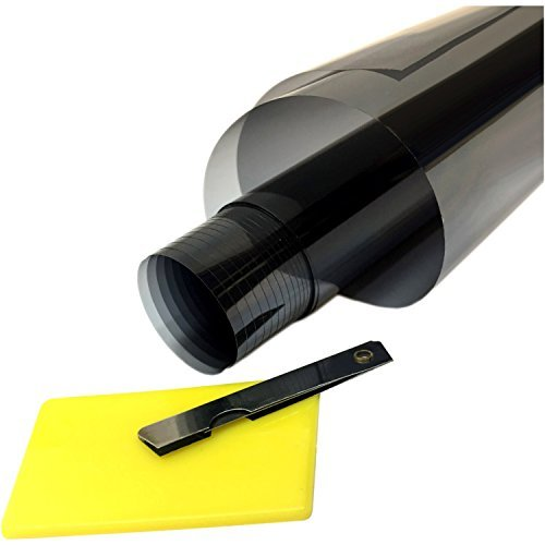 OTOLIMAN Uncut Roll Window Tint Film UV%5 Super Dark Black 20