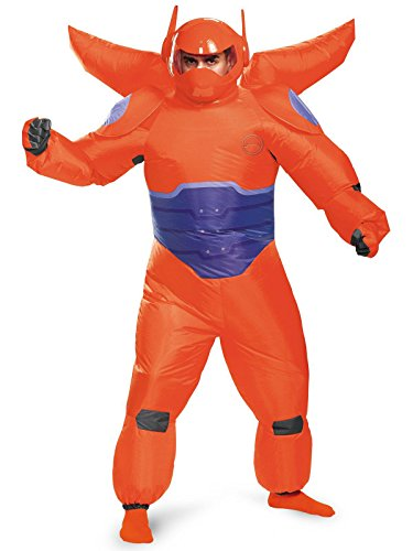 Disguise Men's Red Baymax Inflatable Adult Costume, Red, One -