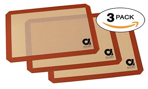 silicone mats (3, Half Sheet 16.5