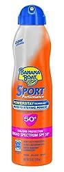 Banana Boat Sunscreen Ultra Mist Sport Performance Broad Spectrum Sun Care Sunscreen Spray - Spf 50, 6 Ounce