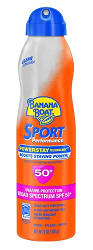 Banana Boat Sunscreen Ultra Mist Sport Performance Broad Spectrum Sun Care Sunscreen Spray - SPF 50, 6 (Continuous Sunscreen Mist)