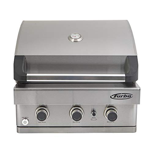 Barbeques Galore Turbo 3-Burner Built-in Gas Grill - Natural Gas