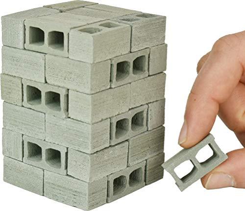 Acacia Grove Mini Cinder Blocks, 48 Pack, 1/12 Scale