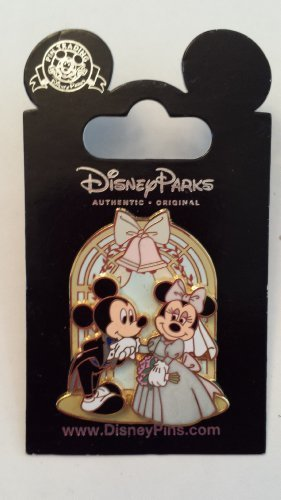 2008 Wedding Mickey & Miinnie Mouse Disney Pin Trading Collectible Lapel Pin by WD-40 ()