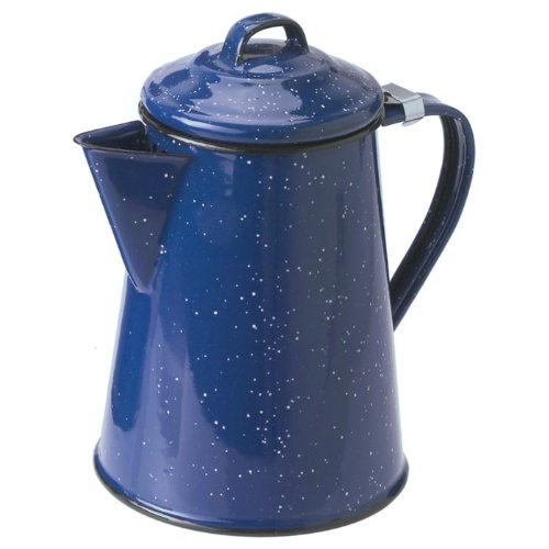 Blue Enamel 6 cup Coffee Pot by GSI