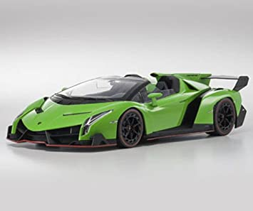 Buy Lamborghini Veneno Roadster Green With Green Line 1 18 By Kyosho