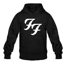 OMMIIY Men's Foo Fighters Saint Cecilia Logo Hoodie