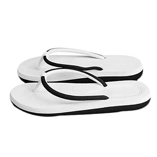 AutumnFall® Summer Women Simple Flip-flops Beach Sandals (8, Black)