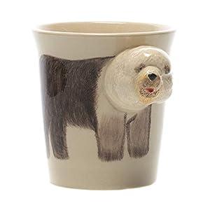 Sea Island Old English Sheep Dog Puppy Dog 8 Ounce Ceramic Stoneware Hand-Painted Animal 3-Dimensional Coffee Mug 1